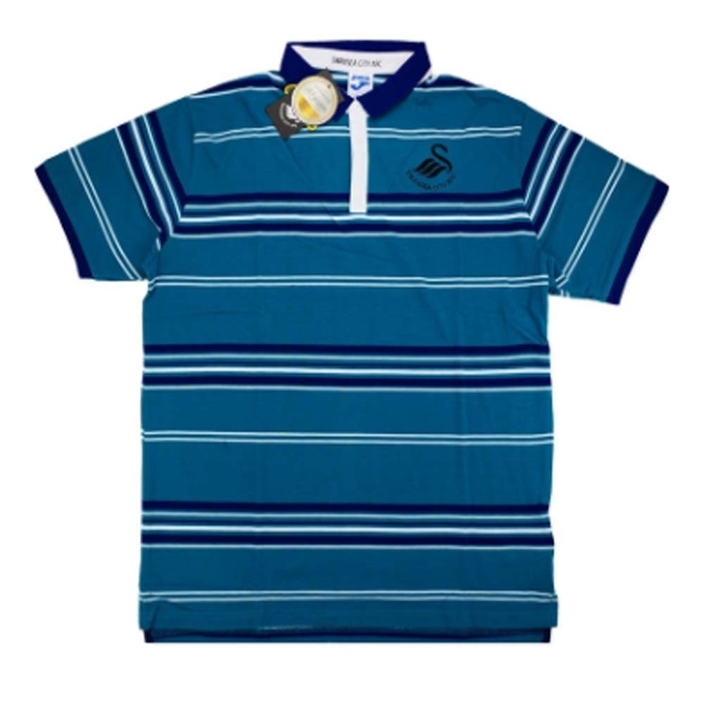 2016-2017 Swansea Joma Cotton Polo T-Shirt (Blue)