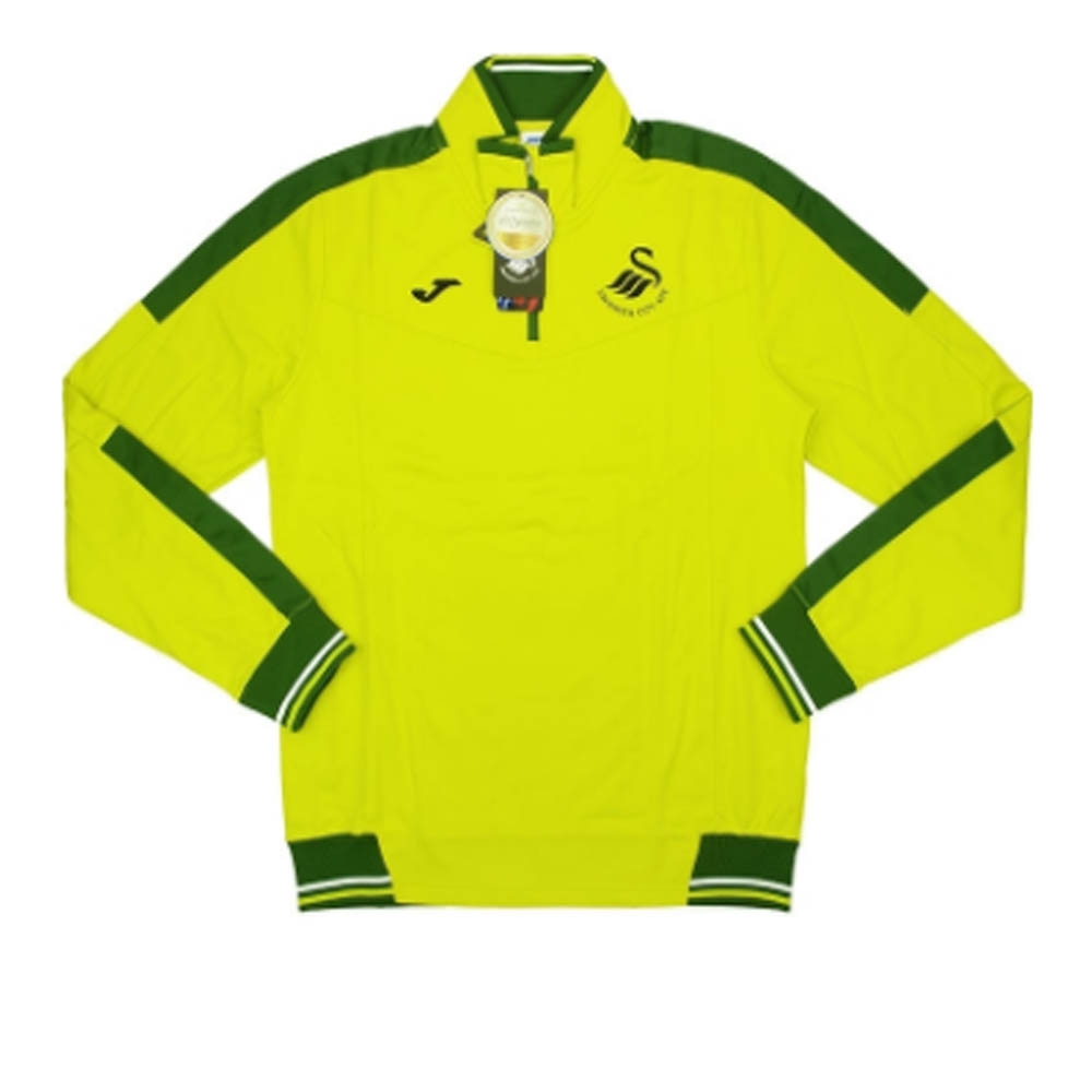 2016-2017 Swansea Joma 1/2 Zip Training Top (Lime)