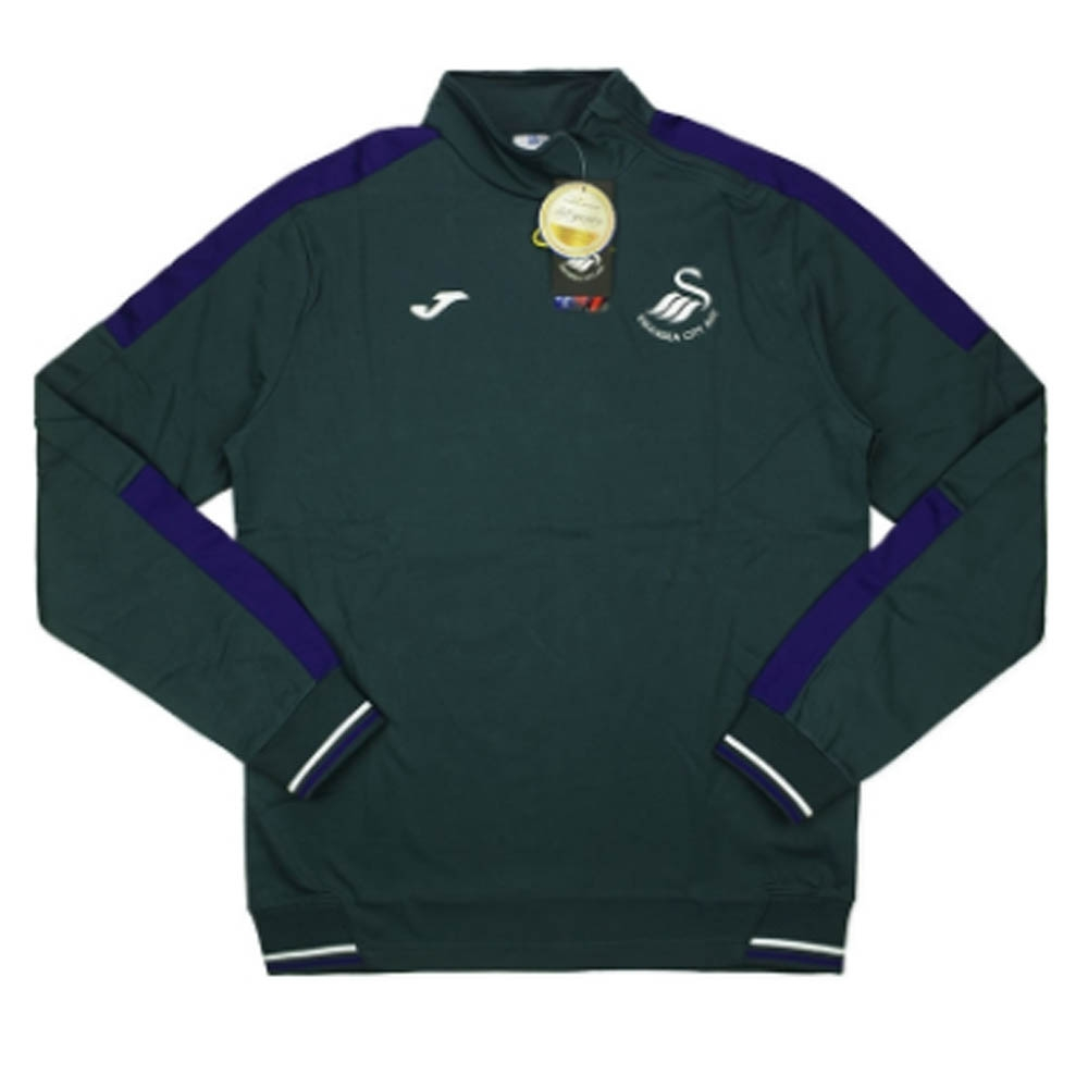 2016-2017 Swansea Joma 1/2 Zip Training Sweat Top (Grey)