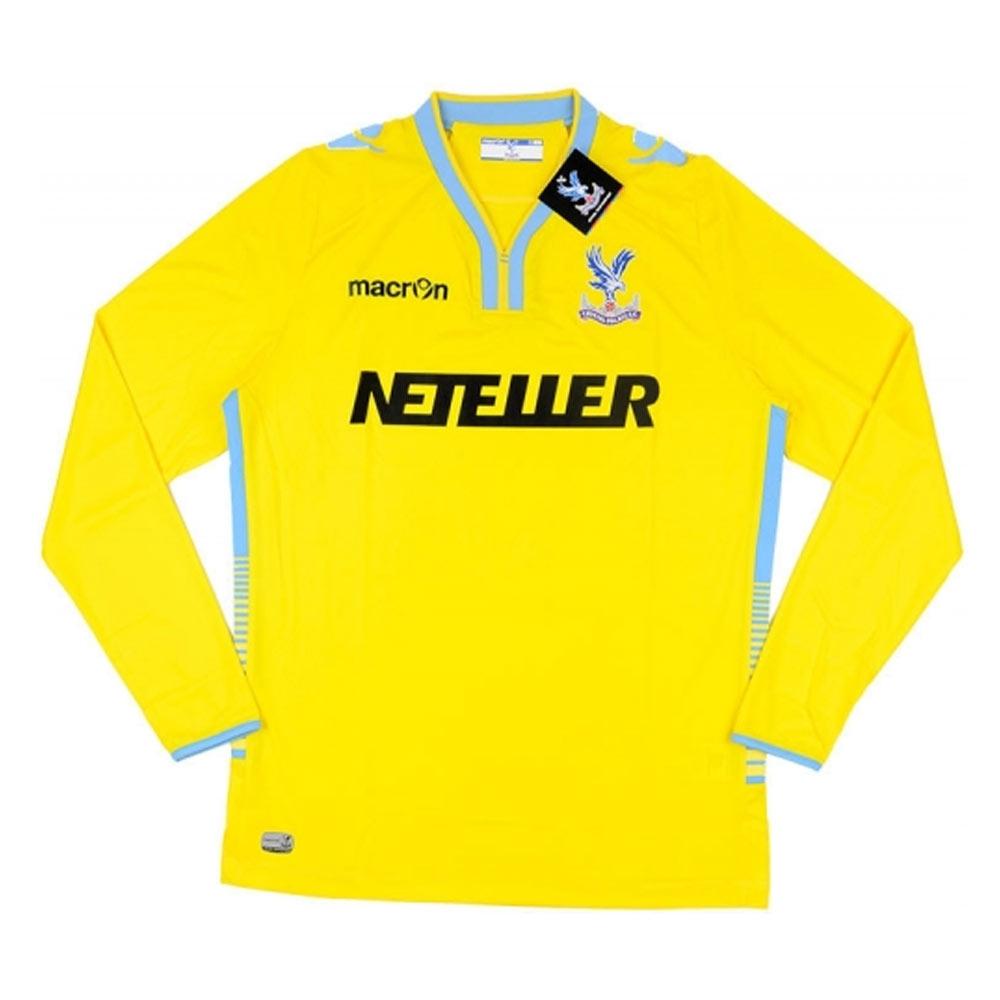 2014-15 Crystal Palace Macron Away Long Sleeve Football Shirt