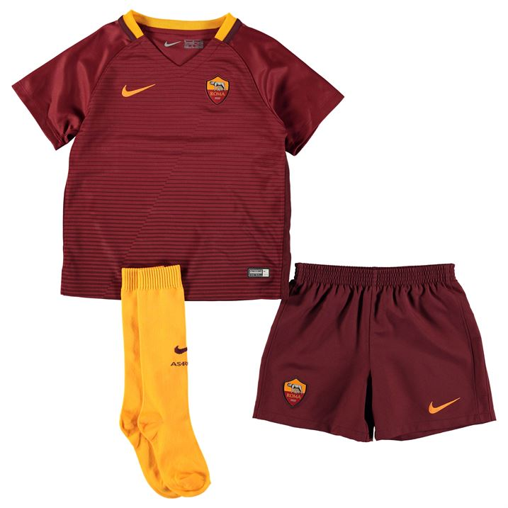2016-2017 AS Roma Home Nike Little Boys Mini Kit