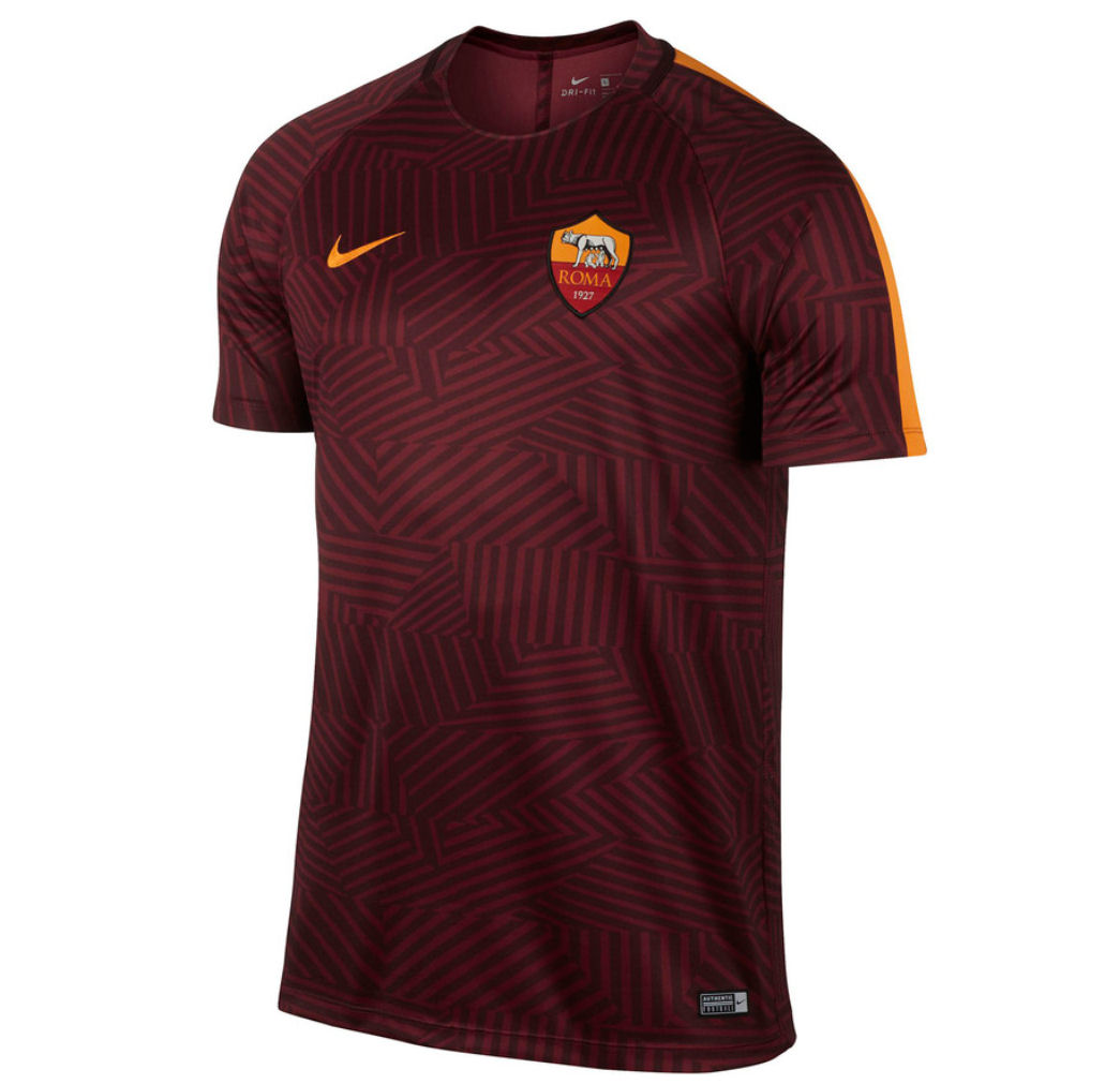 2016-2017 AS Roma Nike Pre-Match Training Shirt (Red)