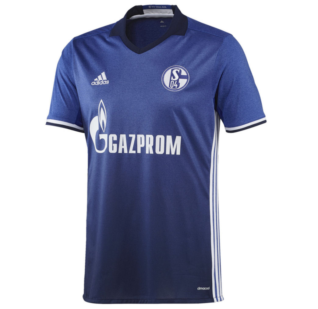 20162017 Schalke Adidas Home Football Shirt