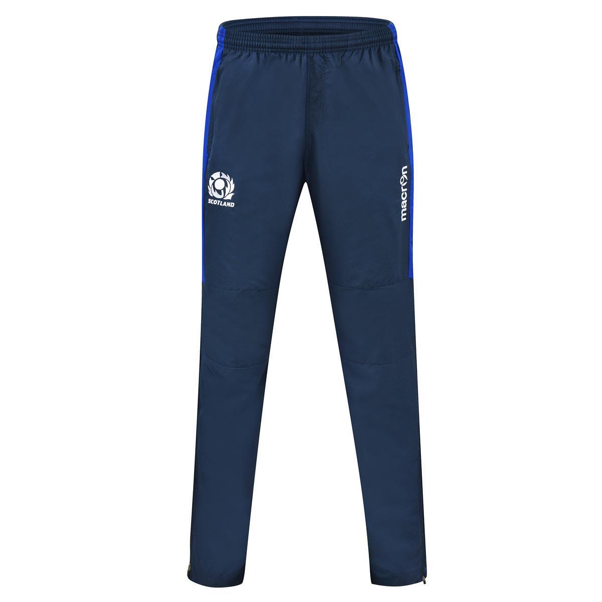 2016-2017 Scotland Macron Rugby Microfibre Travel Pants (Navy) - Kids