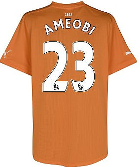 2011-12 Newcastle Puma Away Football Shirt (Ameobi 23)