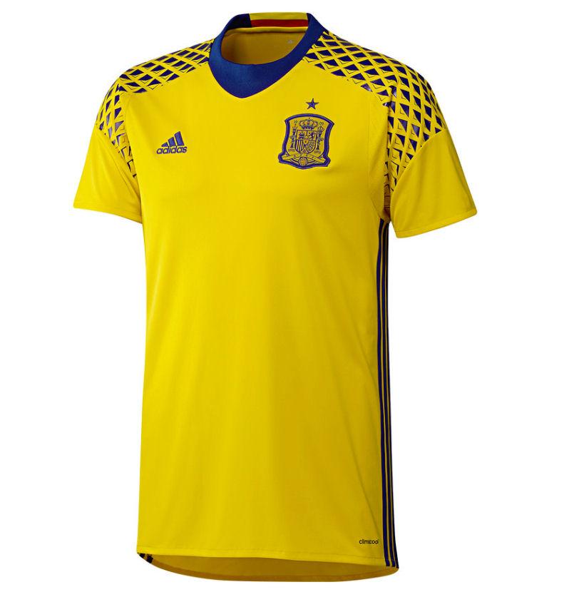 best website 6a1a0 a030e spain 12 de gea yellow goalkeepere mens adults short sleeves ...