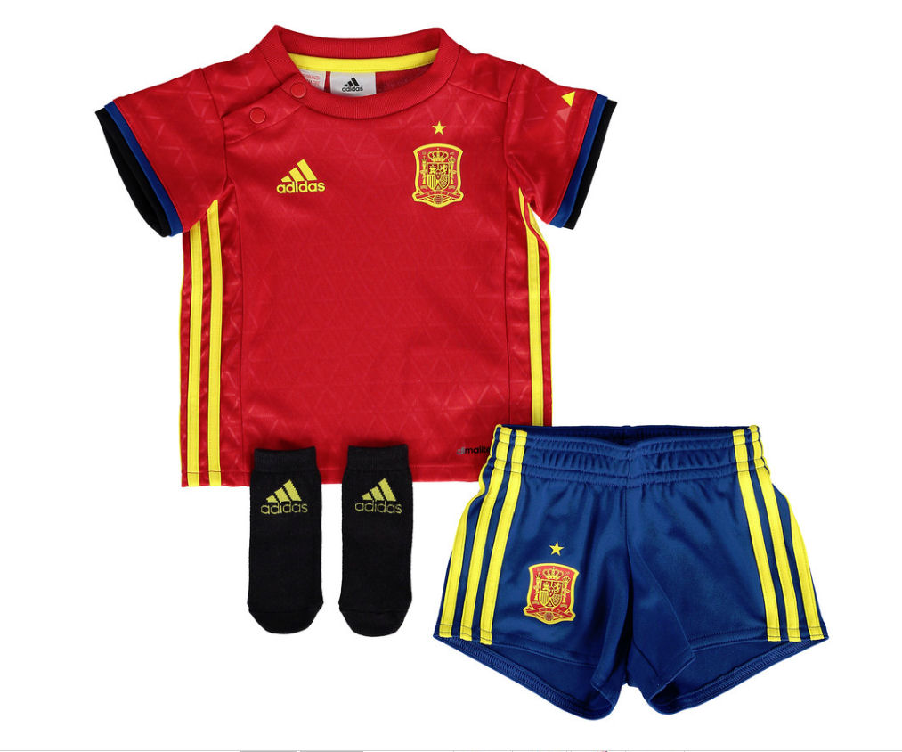 20162017 Spain Home Adidas Baby Kit