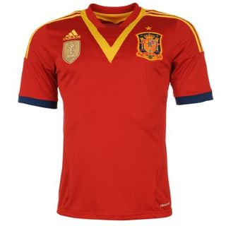 2013-14 Spain Adidas Home Football Shirt