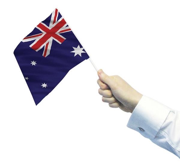 Australia Hand Waving Flag