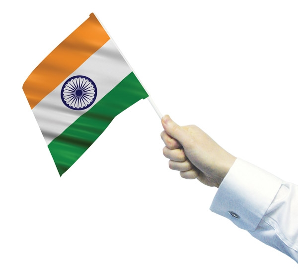 India Hand Waving Flag
