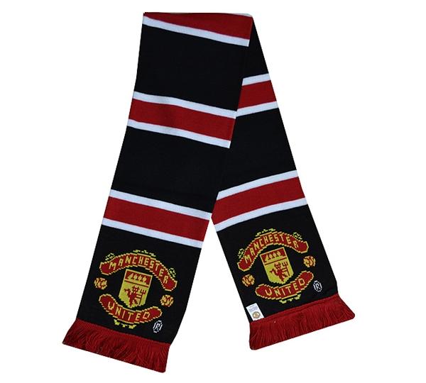 utd stripe scarf uksoccershop