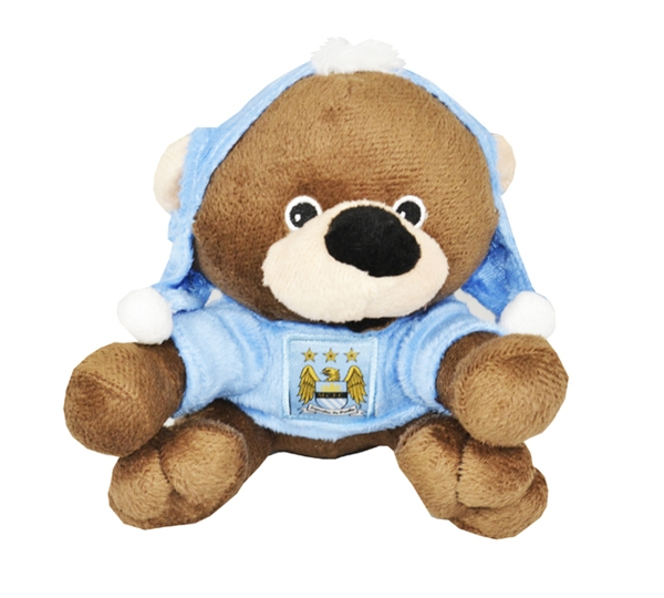 Manchester City Bear With Mohawk Hat
