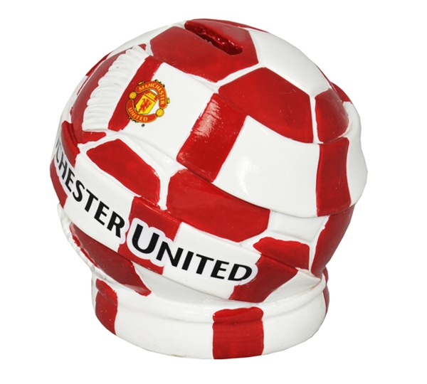 Manchester United Ball Scarf Piggy Bank