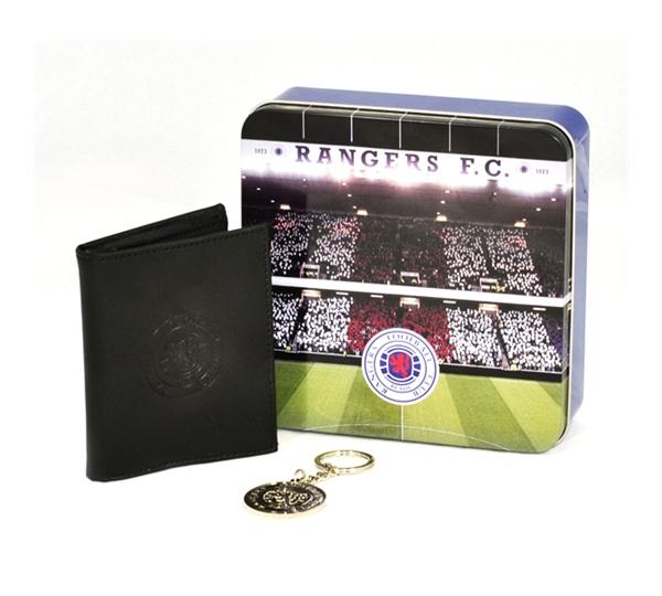 Rangers Wallet & Keyring Colour Gift Tin