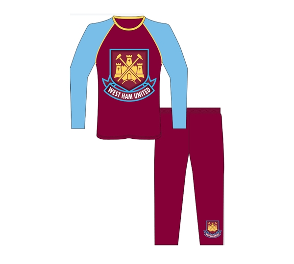 West Ham Boys Long Leg Pyjama (3/4)