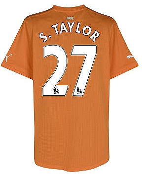 2011-12 Newcastle Puma Away Football Shirt (S.Taylor 27)