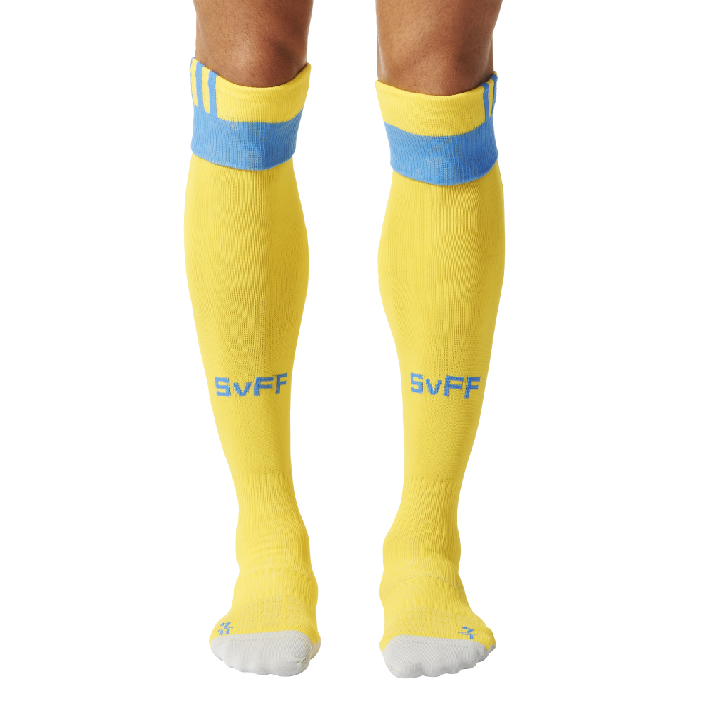 20162017 Sweden Home Adidas Football Socks (Yellow)