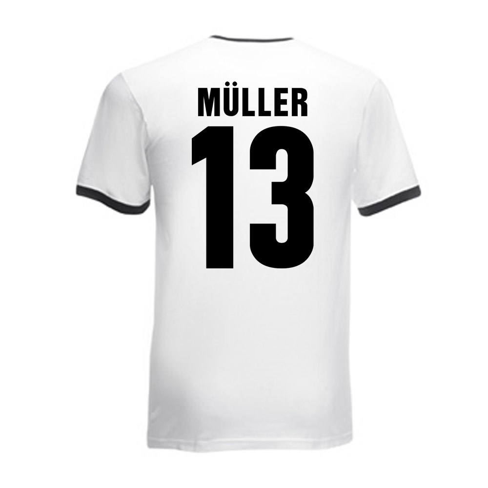 Thomas Muller Germany Ringer Tee (white-black)