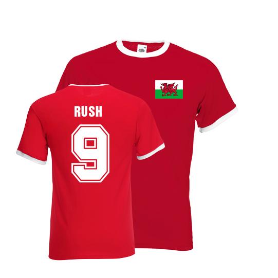 Ian Rush Wales Ringer Tee (red)