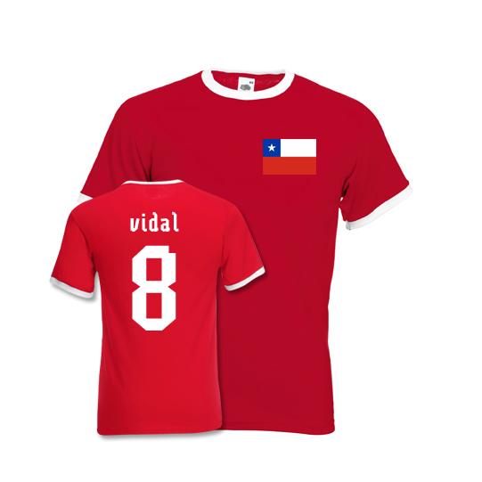 Arturo Vidal Chile Ringer Tee (red)