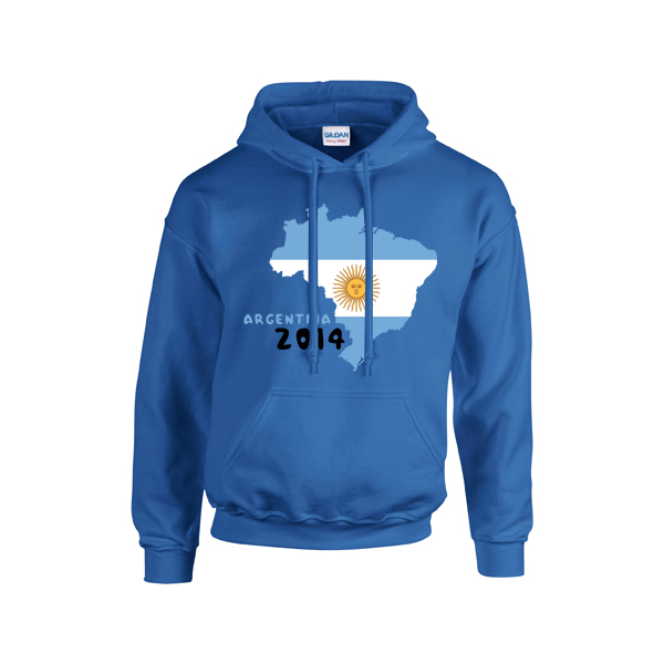 Argentina 2014 Country Flag Hoody (grey)