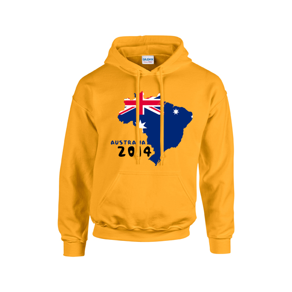 Australia 2014 Country Flag Hoody (yellow)