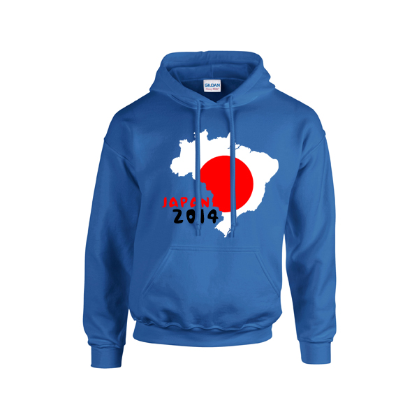Japan 2014 Country Flag Hoody (blue)