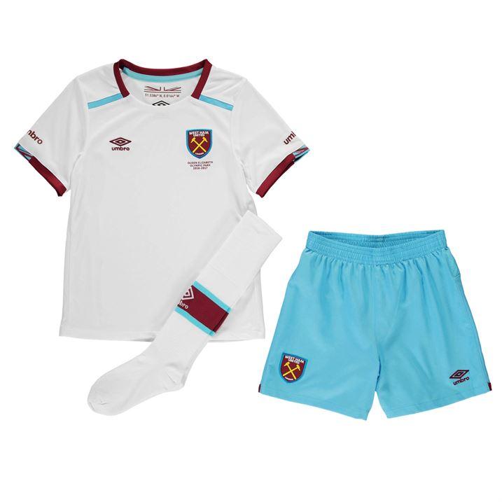 2016-2017 West Ham Away Little Boys Mini Kit