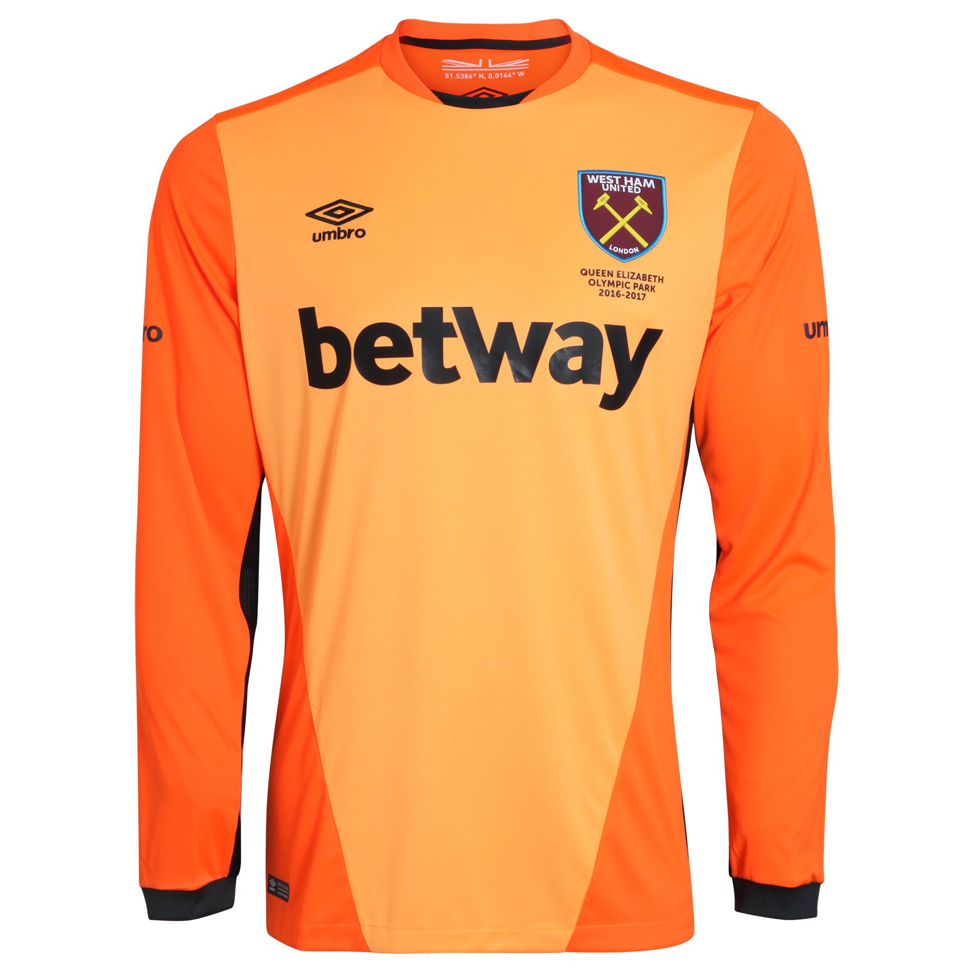 2016-2017 West Ham Home Goalkeeper Shirt