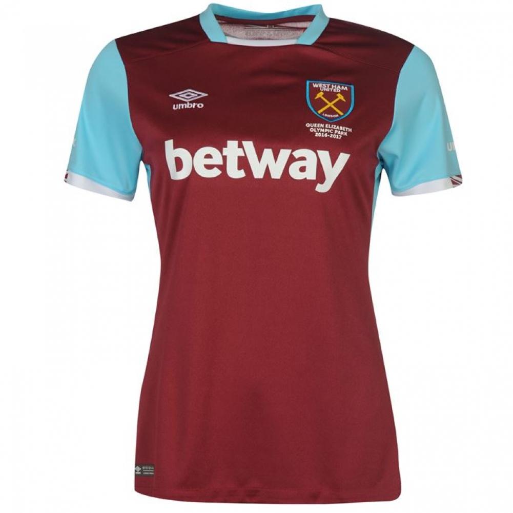 2016-2017 West Ham Home Ladies Football Shirt