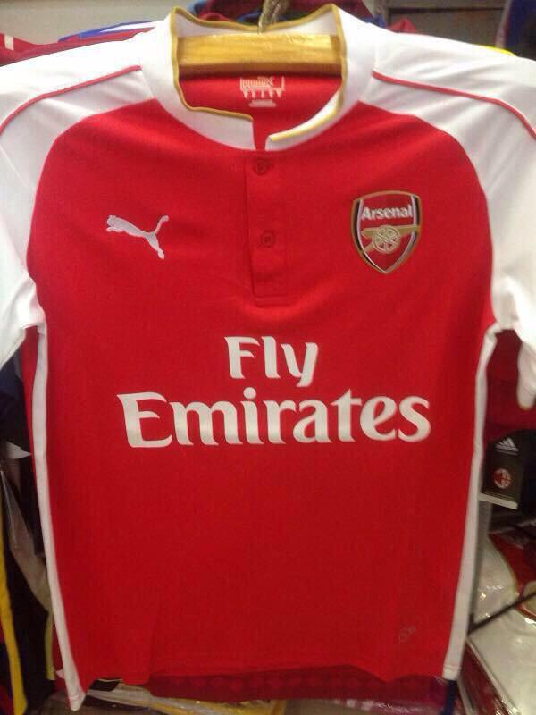 Arsenal 2015-2016 Puma Home Kit Leaked aa7b70244
