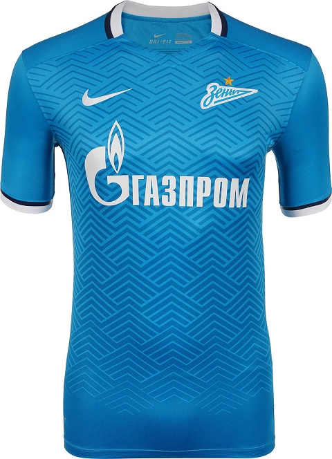 b8163d91c6d The new Zenit 2015-2016 Away Kit combines the traditional color white with  sky blue applications and contrasting navy details on the collar and the  sleeves ...