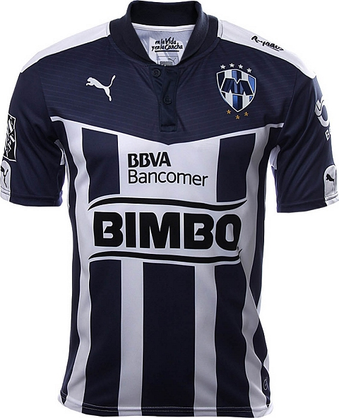 23b42e1ce The new Rayados Monterrey Away Jersey introduces a clean design paying  homage to the Cerro de la Silla with subtle light grey stripes on the front.