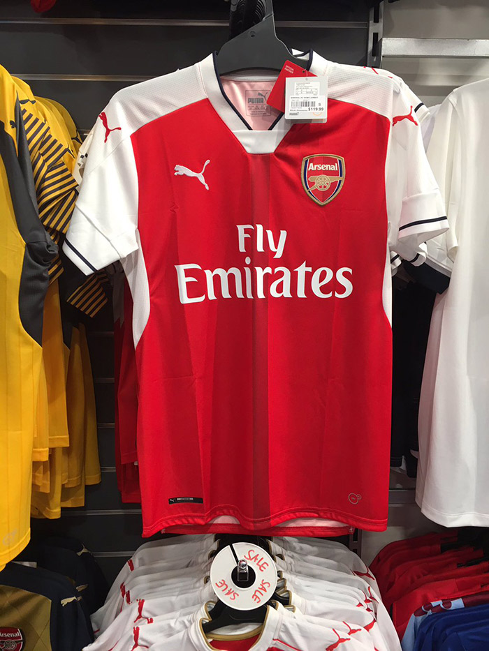 Arsenal 2016-17 Leaked Kit home