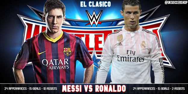 new product b5c26 45aa6 El Clasico Goes Wrestlemania - Messi vs. Ronaldo