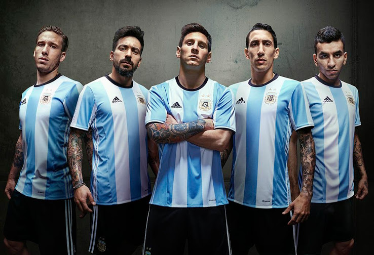 b56ba373 Adidas Unveil New World Cup Argentina Football Shirt