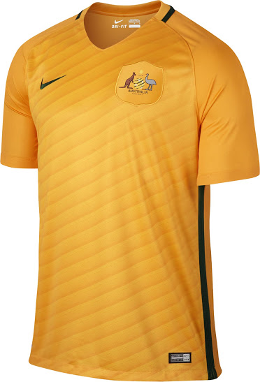 b3c505453a2 New Socceroos 2016/2017 Football Shirt Unveiled