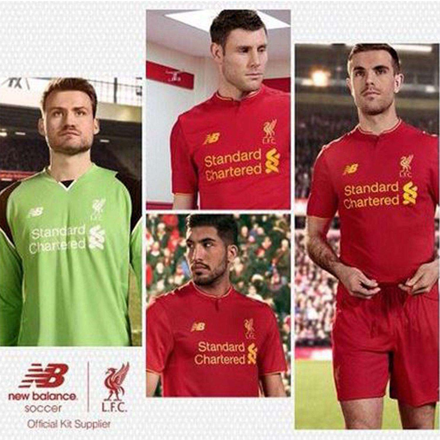 Liverpool-Kit. In what looks to be leaked New Balance promotional material,  we can see the new home shirt of the Anfield based side has sharp, ...