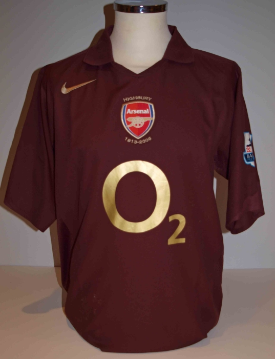 2005-06 Home Kit Final Highbury Season