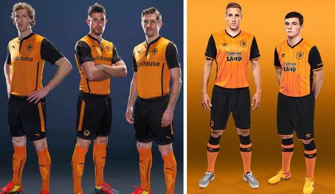 2016-17 Hull City Home Kit v 2014-15 Wolves