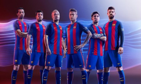 Barcelona 2016-17 Home Kit Banner