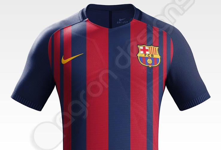 Barcelona 2017-18 Home Shirt Agron Designs