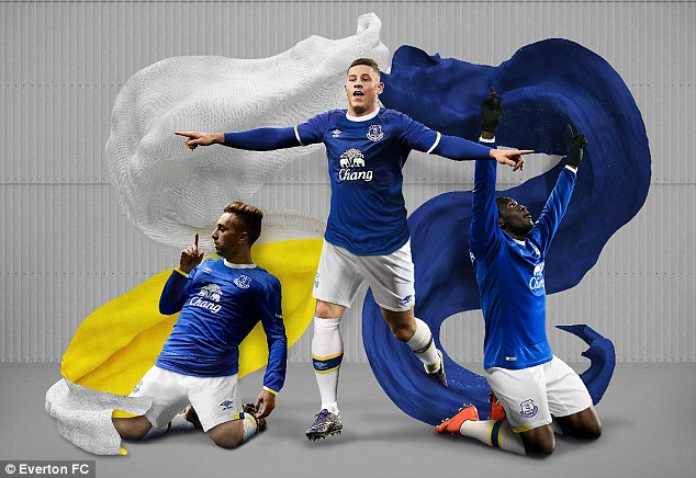 Everton unveil 2016-17 home kit