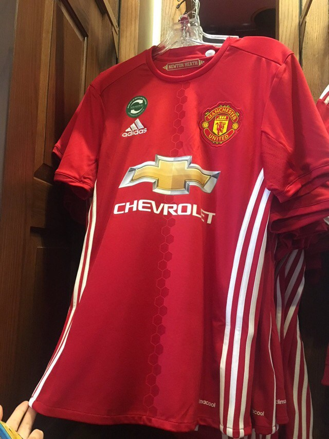 sports shoes 0a4ba 81df7 Manchester United 2016/17 Home & Third Kits Leaked