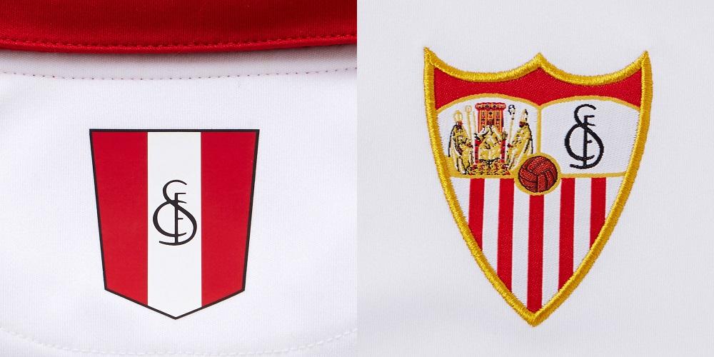 Sevilla FC 2016-17 Home Kit Shirt Front Badge