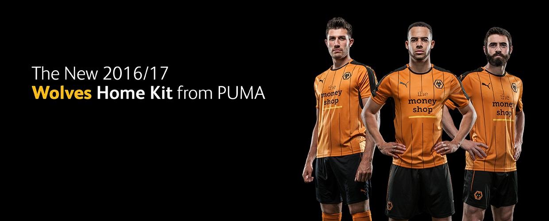 Wolves 2016-17 Home Kit Banner