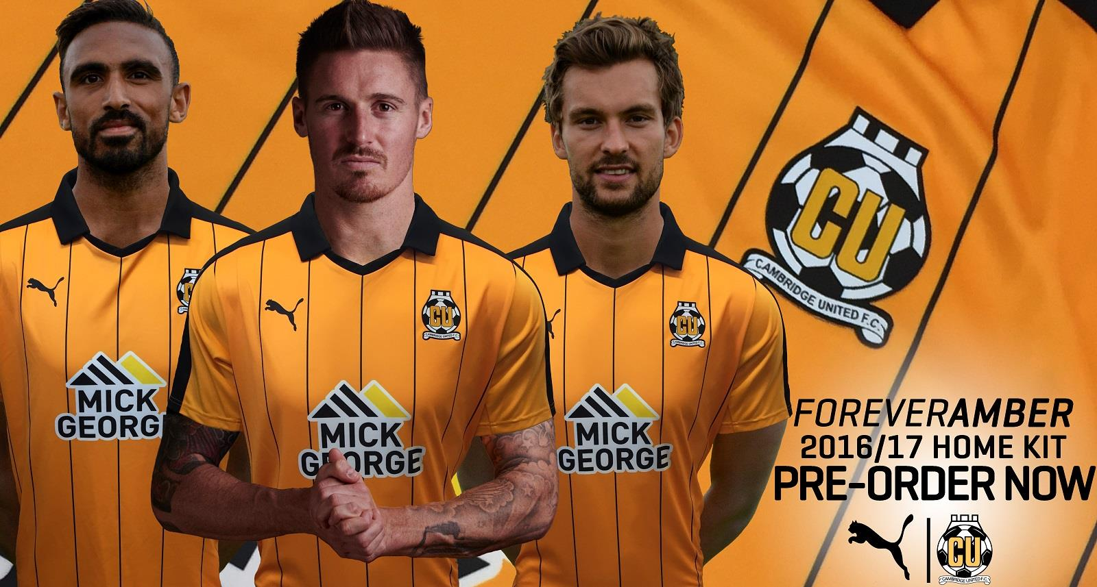Cambridge United 2016-17 Home Banner