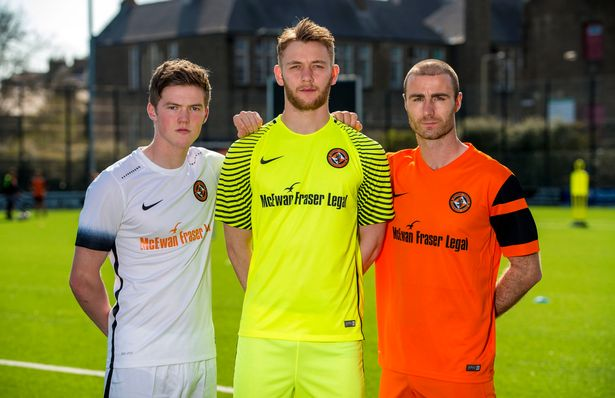 Dundee United 2016-17 Away, Goalkeeper and Home Kits