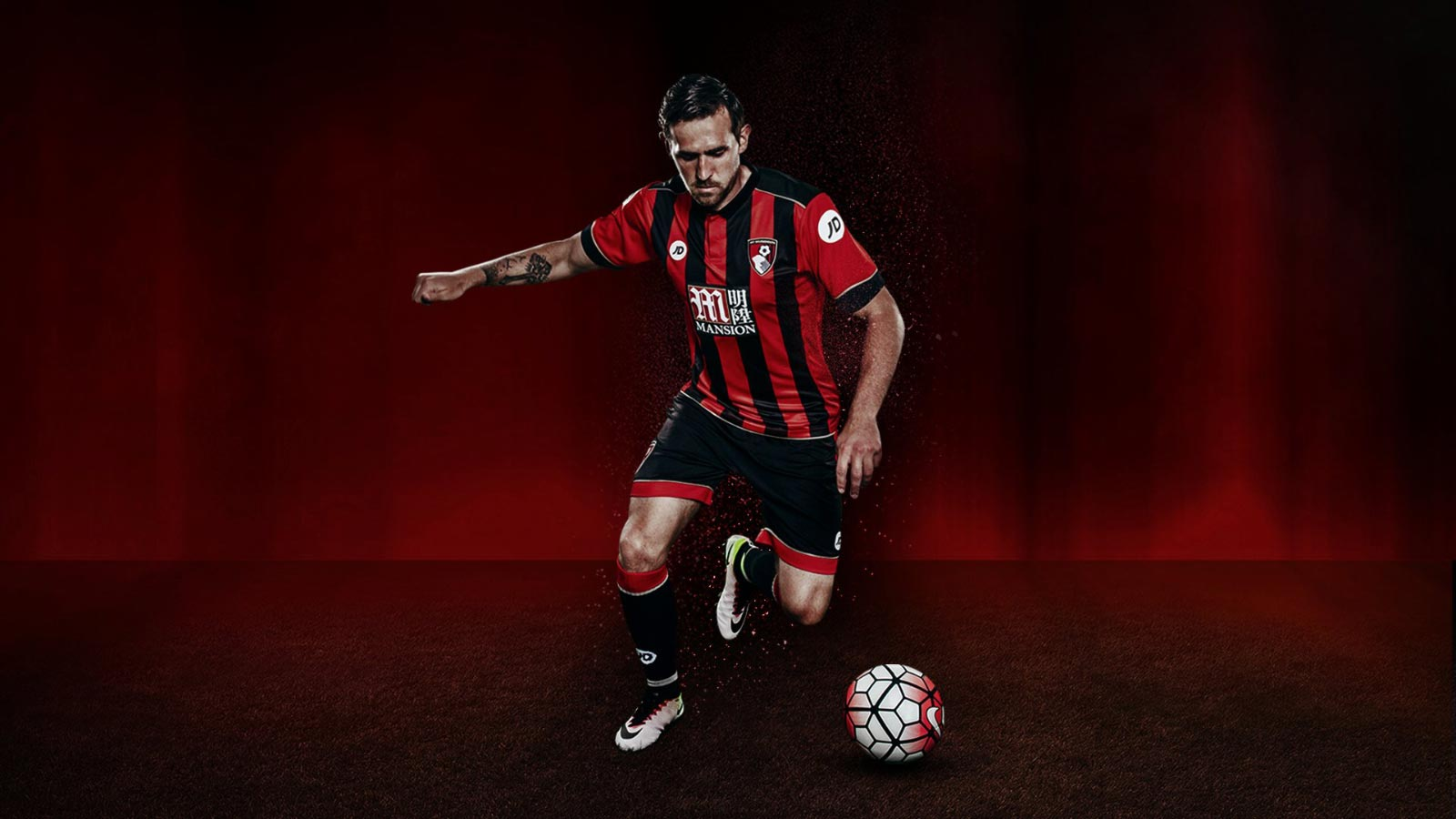 bournemouth-2016-17 home kit front view