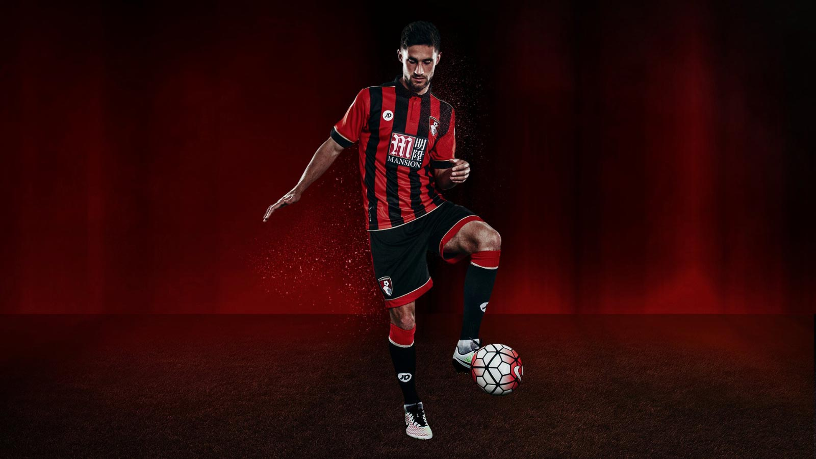 bournemouth-2016-17 home kit full front